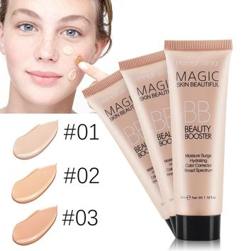 New Fashion Liquid Foundation Concealer Whitening Blemish Balm BB Face Makeup Light Dark Makeup Tool Super Mild Beauty Cosmetic
