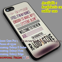 Imagine Dragons Quote iPhone 6s 6 6s+ 5c 5s Cases Samsung Galaxy s5 s6 Edge+ NOTE 5 4 3 #music #imd dl7