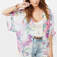 Floral Fringe Kimono in  Clothes at Nasty Gal
