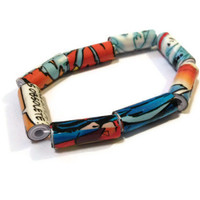 Comic Book Bracelet - Comic Strip, Recycle, Unusual Jewelry, Reclaimed, Repurposed