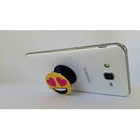 2X1 Pop Out Phone Grip and Stand, Mobile Holder for your Phone & Tablet (Heart emoji)