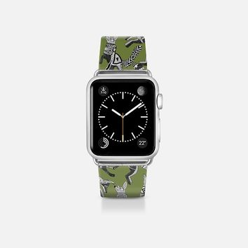 woodland fox party green apple watch band Apple Watch Band (38mm) by Sharon Turner | Casetify