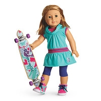 American Girl® Clothing: Skateboarding Set for Dolls + Charm