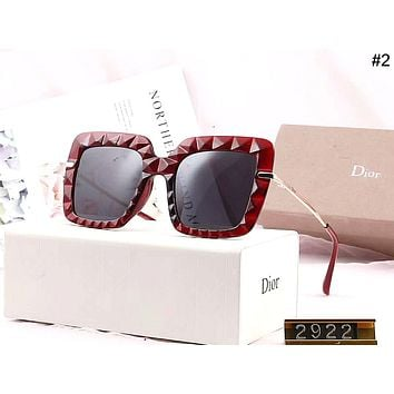 DIOR 2019 new women's concave and convex large frame driving polarized sunglasses #2