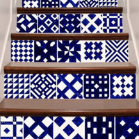 Tile decals Stickers - Tile Decals - Tile decals for Kitchen, Bathroom, Stairs - PACK OF 20 - Mexico, Morocco, Portugal, Spain, Mosaic #8 - Edit Listing - Etsy