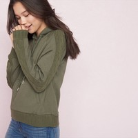 Hoodie With Sweater Detail
