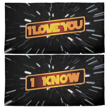 I Love You I Know Hyper Space All Over Beach Towel Set