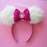 Disney mouse Ears / girls hair accessory / Marie headband / Marie mouse ears / Aristocats / Disney inspired / mickey mouse ears