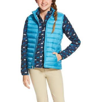 Ariat Girl's Ideal Down Vest - Barrier Blue