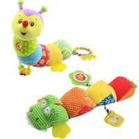Musical Light Flash stuff Caterpillar with Ring Bell Cute Cartoon Animal Plush creative Doll Early Education gift soft Baby Toys