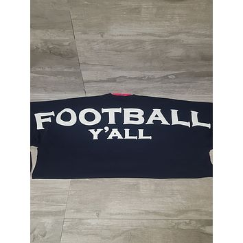 Football Y'all Spirit Jersey in Navy