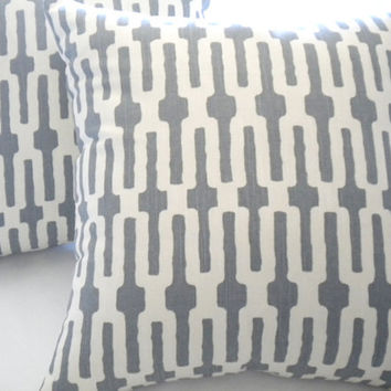 Pillow cover Annie Selke pillow cover,Links Tin Grey accent pillow, throw pillow,toss pillow