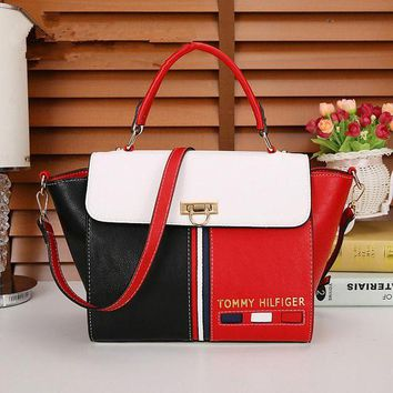 ONETOW Tommy Hilfiger' Personality Fashion Multicolor Stripe Wing Single Shoulder Messenger Bag Women Handbag