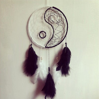 "7"" Black & White Yin Yang Dream Catcher"