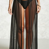 Mesh Cover-Up Maxi Skirt