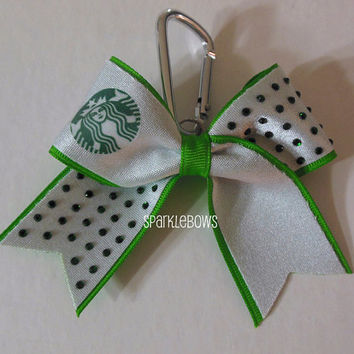Starbucks Rhinestone Key Chain Cheer Bow Cheerleading