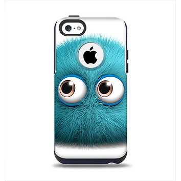 The Teal Fuzzy Wuzzy Apple iPhone 5c Otterbox Commuter Case Skin Set