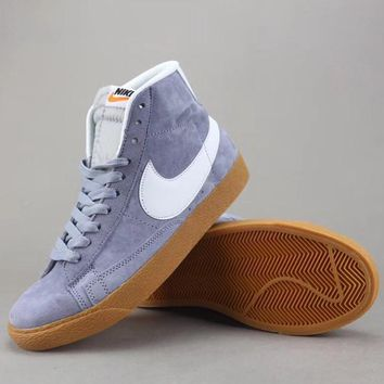 Nike Blazer Mid Suede Vntg Women Men Fashion Casual Old Skool High-Top Shoes-10