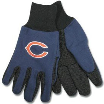 Twotonegloves Chicago Bears Two Tone Work Gloves National Football League Athletic Association Nfl Sport Sporting Game Memorobilia Extrml