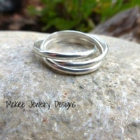 Delicate Russian Wedding Ring. Sterling silver ring.