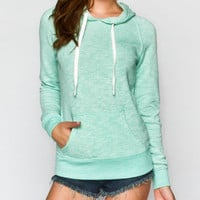 Full Tilt Marled Womens Hoodie Mint  In Sizes