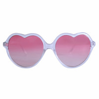 Beat Of My Heart Sunglasses - Pink Sunset