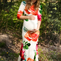 Bloom Baby Bloom Floral Maternity Maxi Dress