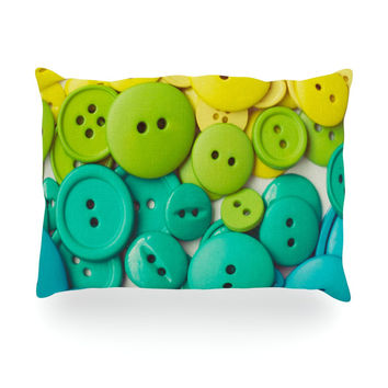 "Libertad Leal ""Cute as a Button"" Oblong Pillow"