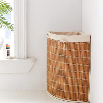 Wicker Corner Hamper | Urban Outfitters
