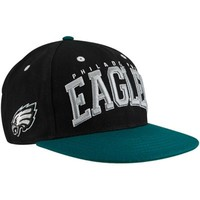 Philadelphia Eagles Black-Midnight Green Big Text Snapback Adjustable Hat