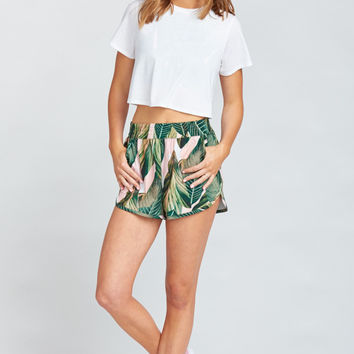 Zelda Shorts ~ Peachy Palm Swoosh