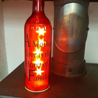 A mothers love is the heart of a family led bottle light lamp beautiful gift loss