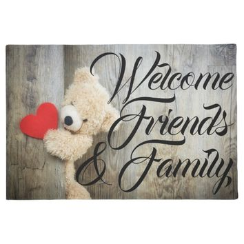 Teddy & Heart Welcome Door Mat