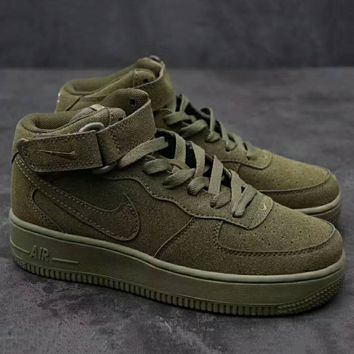 Nike Air Force 1 Mid '07  Trending High Tops Running Sport Fashion Casual Sneakers Shoes Army Green G-XYXY-FTQ