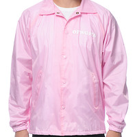 Odd Future Donut Leaf Pink Coach Jacket