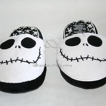 Licensed cool NEW The Nightmare Before Christmas JACK ADULT Slippers PLUSH HOUSE SHOES S & M