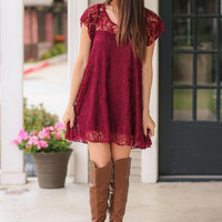 Maroon Madness Tunic Dress