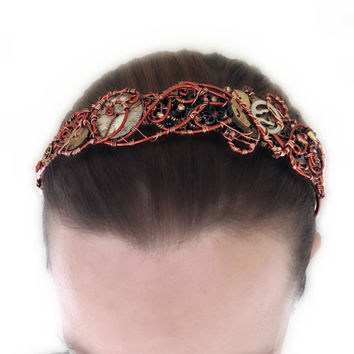 Copper Wire Wrap Steampunk Headband