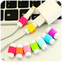 New Best Sellers Colorful USB Cable earphones Mini protector for Apple iPhone 4 5 6 Plus For Android smartphone