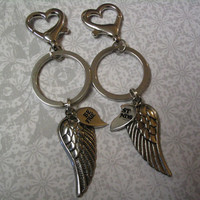 Best Friends Angel Wings Key Chains for Friends or Sister Friends
