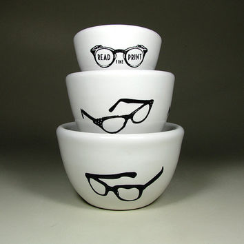 The Urban Set of Spectacles Ready to Ship / In by CircaCeramics