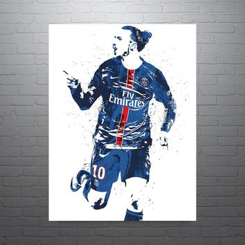 Zlatan Ibrahimovic Paris Saint-Germain PSG Footballer Poster