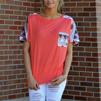 Caribbean Nights Coral Top