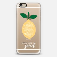 Lemons // Make Life Sweet iPhone 6s case by Frost Design Co. | Casetify
