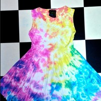 SWEET LORD O'MIGHTY! RAINBOW HOE BABYDOLL DRESS