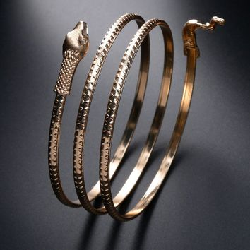 Snake Wrap Around Arm Cuff