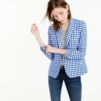 Campbell blazer in gingham : | J.Crew
