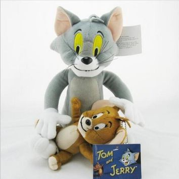 2pcs/set Tom and Jerry Mouse Plush Toys Cute Animal Stuffed Plush Dolls for Kids Gifts
