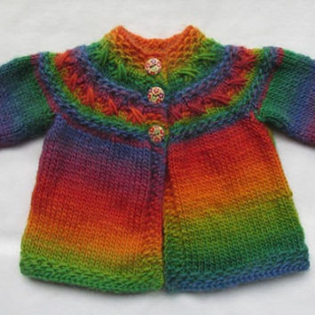 Kisses Cardi (for babies and toddlers) - KNITTING PATTERN - downloadable file