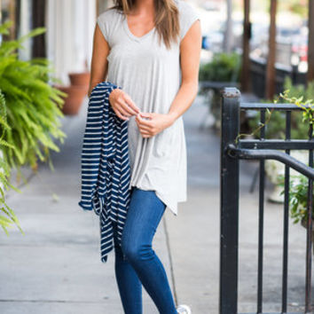 Chart Topping Tunic, Heather Grey